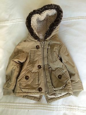 M&S Boys Hooded Coat 3-6 Months