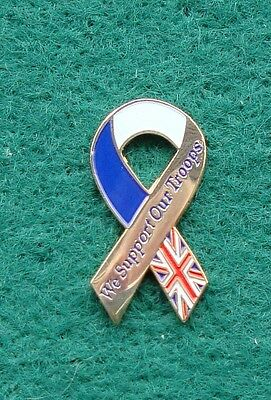 British Army SUPPORT OUR TROOPS RIBBON tie tac pin badge