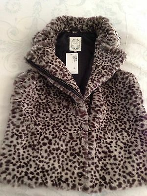 NWT M&S Girls Fur Lined Gillet Aged 13/14