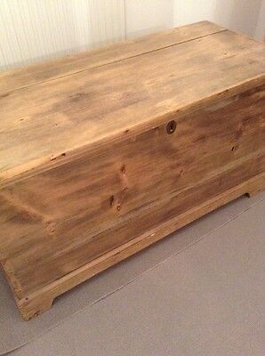 Antique Wood Blanket Box Chest
