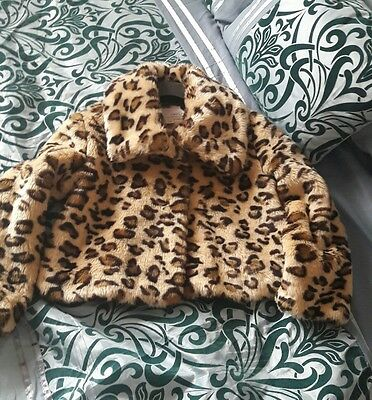 Girls Next faux fur jacket age 5-6 yrs