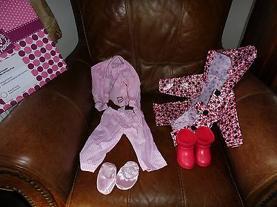 Clothes (Raincoat and boots + Pajamas) for lifesize toddler doll