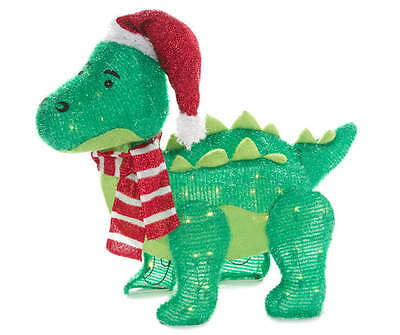 Baby Dinosaur Tinsel Sculpture Christmas Holiday Yard Decoration 30 inch