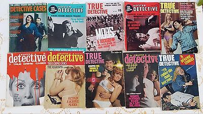 Vintage Magazine True detective Master police US and UK mostly 1960s + Cassius