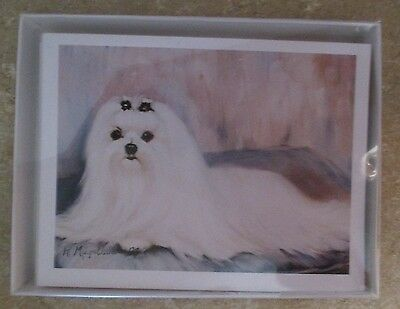 Ruth Maystead Best Friends Notecarrds Maltese 6 cards 6 envelopes