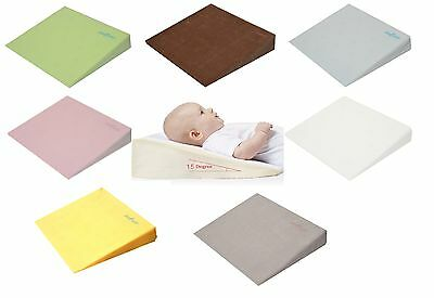 Baby Child Safety Foam Flat Wedge Pillow Cot Bed Anti Reflux Possitioner Cover