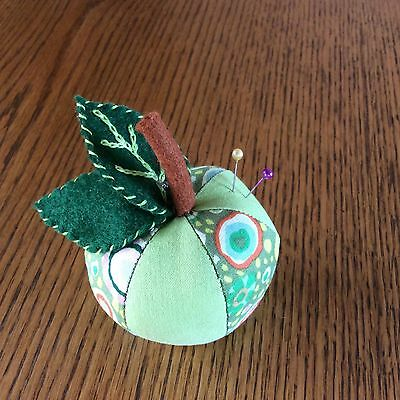 """Pincushion In """"apple""""  Design - New Boxed - Lovely Gift"""