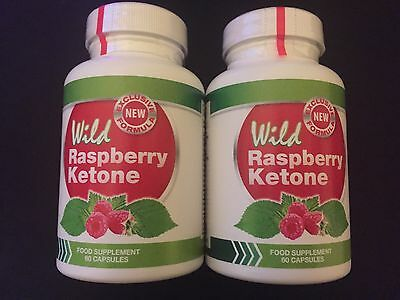 Wild Raspberry Ketone Dietary Supplement - 2X 60 Capsules.Fast Delivery.