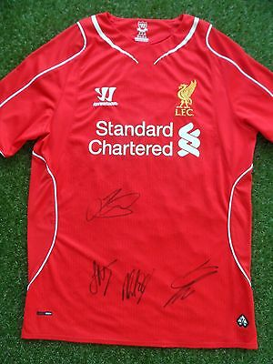 LIVERPOOL Shirt Hand Signed by 2016/2017 Squad 4 Autographs Klopp, Henderson