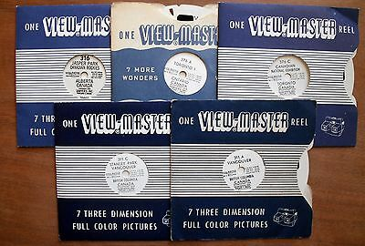 Sawyers 5 x Viewmaster Reels - CANADA