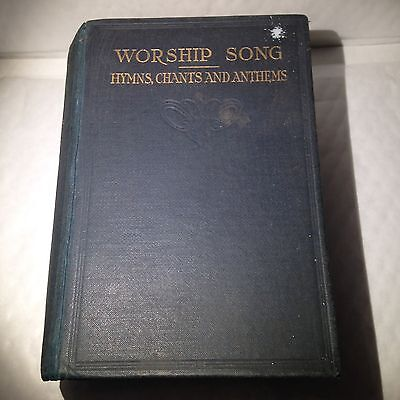 Worship Song - Hymns Chants And Anthens - Antique Religious Book From 1905