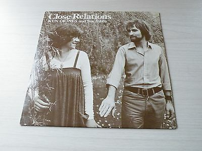 Ken Okines And Sue Ashby Close Relations Lp Uk Burlington '81 Folk Private Press