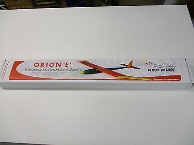 Updated West Wings Orion 'E' electric glider Balsa, radio control model kit