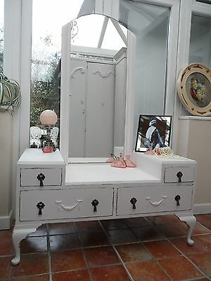 Pretty Vintage Painted French Look Dressing Table Shabby Chic