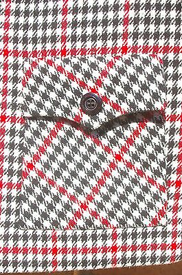 Original Vintage 60s Dixie Womens wool check swing coat jacket Mint Condition