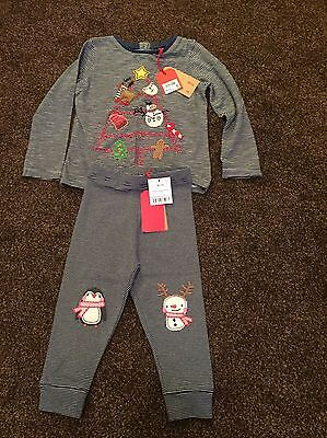 Next Girls Christmas Top And Leggings 18-24 Months