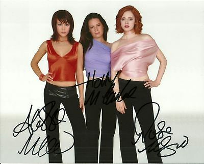 CHARMED CAST  is a  8 BY 10 INCH AUTOGRAPHED PICTURE WITH A COA
