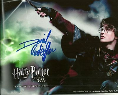 DANIEL RADCLIFFE   is a  8 BY 10 INCH AUTOGRAPHED PICTURE WITH A COA