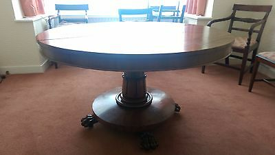 Antique Victorian Dining / Breakfast Table with 6 Chairs