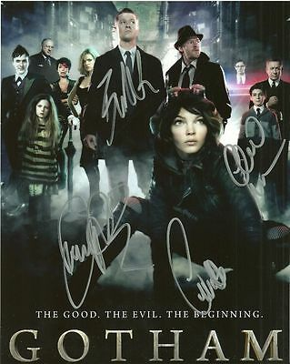 GOTHAM CAST  is a  8 BY 10 INCH AUTOGRAPHED PICTURE WITH A COA