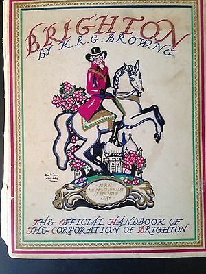 Vintage 1937 Official Handbook Of The Corporation Of Brighton