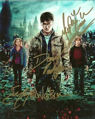 HARRY POTTER CAST   is a  8 BY 10 INCH AUTOGRAPHED PICTURE WITH A COA