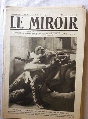 Le Miroir No.186 17th June 1917 World War I WWI French Wartime Magazine