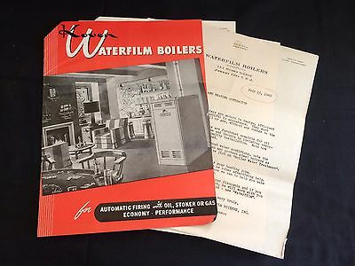 1949 Koven Waterfilm Boilers, Mid-Century Advertising Ephemera, Jersey City