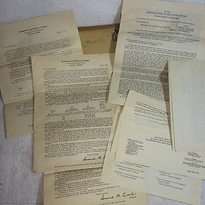 Large Lot 1930s Standard Gas & Electric Company Stock/Bankruptcy Paper/Documents