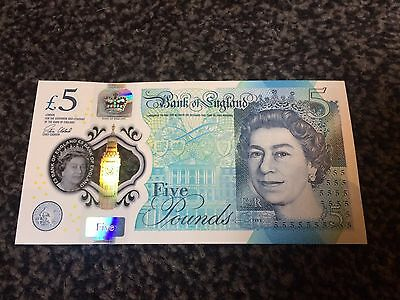 Rare Uncirculated Aa01 Five Pound Note