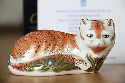 Royal Crown Derby Paperweight - The Leicestershire Fox -1st Quality Ltd Edn+Cert