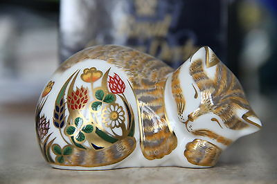 "Royal Crown Derby Paperweight ""Cottage Garden Kitten"" 1st Quality & Boxed RARE"