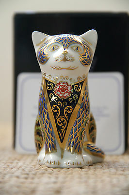 "Royal Crown Derby Paperweight ""Fireside Kitten"" 1st Quality Boxed Cert RARE"