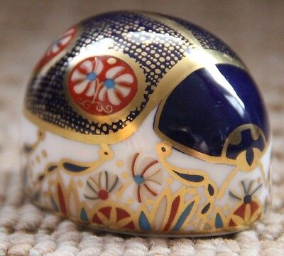 Royal Crown Derby Paperweight - The Blue Ladybird - 1st Quality