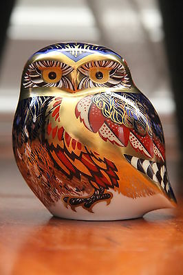 "Royal Crown Derby Paperweight - ""The Little Owl"" - 1st Quality, Boxed & Retired"