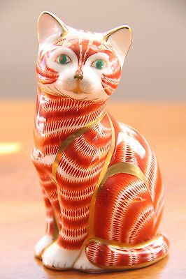 "Royal Crown Derby Paperweight ""Ginger Tom Cat"" - 1st Quality VERY RARE"
