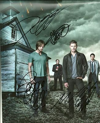SUPERNATURAL CAST   is a  8 BY 10 INCH AUTOGRAPHED PICTURE WITH A COA
