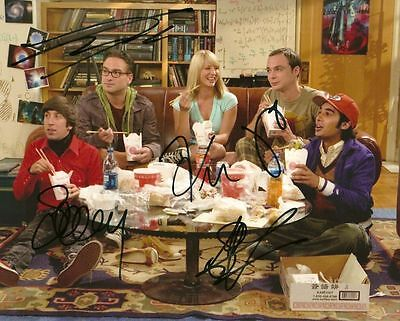 THE BIG BANG THEORY  CAST   is a  8 BY 10 INCH AUTOGRAPHED PICTURE WITH A COA