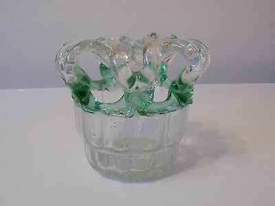 "LATE 18th EARLY 19th CENTURY  GLASS "" BRIDE'S BANK ""."