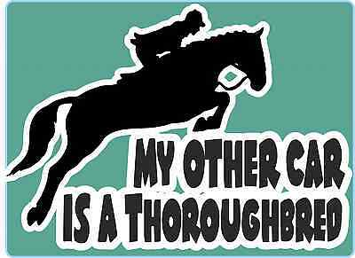 Horsebox Decal My Other Car is a Thoroughbred Sticker Window Bumper Car Sticker