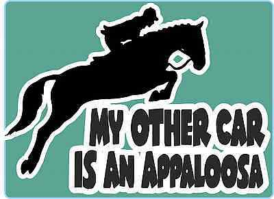 "Horsebox Decal ""My Other Car is an Appaloosa"" Window Decal Bumper Car Sticker"
