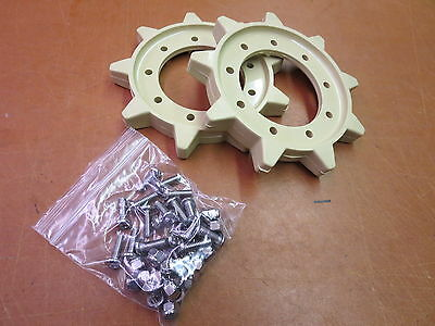 Two Front Drive Sprockets and Hardware: Vintage Ski-Doo