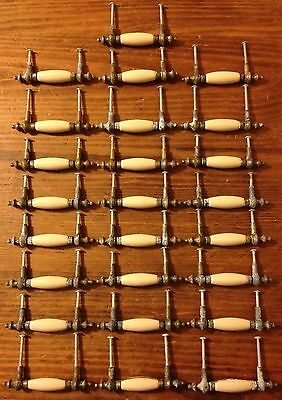 25 Handles Vintage Metal Ivory Lot Collection Pull Knobs
