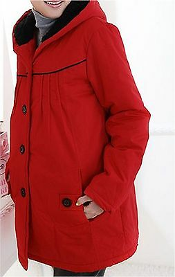 BRAND NEW Elegant & Comfortable Very Warm Cosy RED Maternity Coat  - Size 8