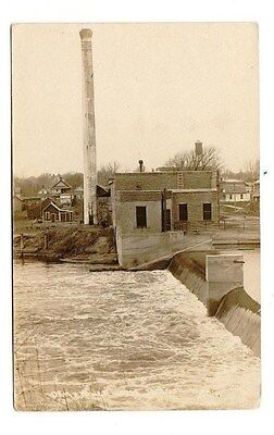 RPPC Photo of Jackson, Minnesota MN Dam and Power House.  By LL Cook