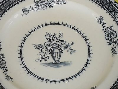 Antique blue and white plate Wood & Sons 'Warwick' Royal semi-porcelain 1900s