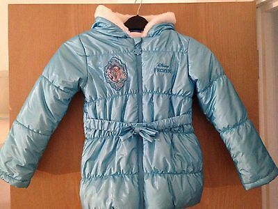Girls Disney Frozen Padded Hooded Winter Coat Age 9-10