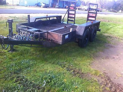 Trailer bobcat excavater heavy duty tandem with ramps