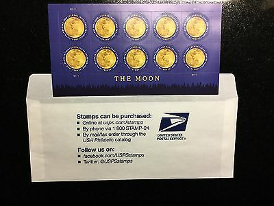 USPS NEW Sheet #5058 The Moon Global Forever International Rate Stamp Pane Of 10