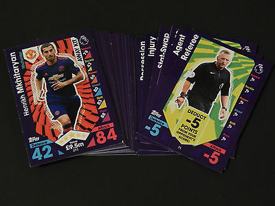 Match Attax 2016 2017 16 17 - Full Set Of 20 Away Kit & 6 Tactic Cards